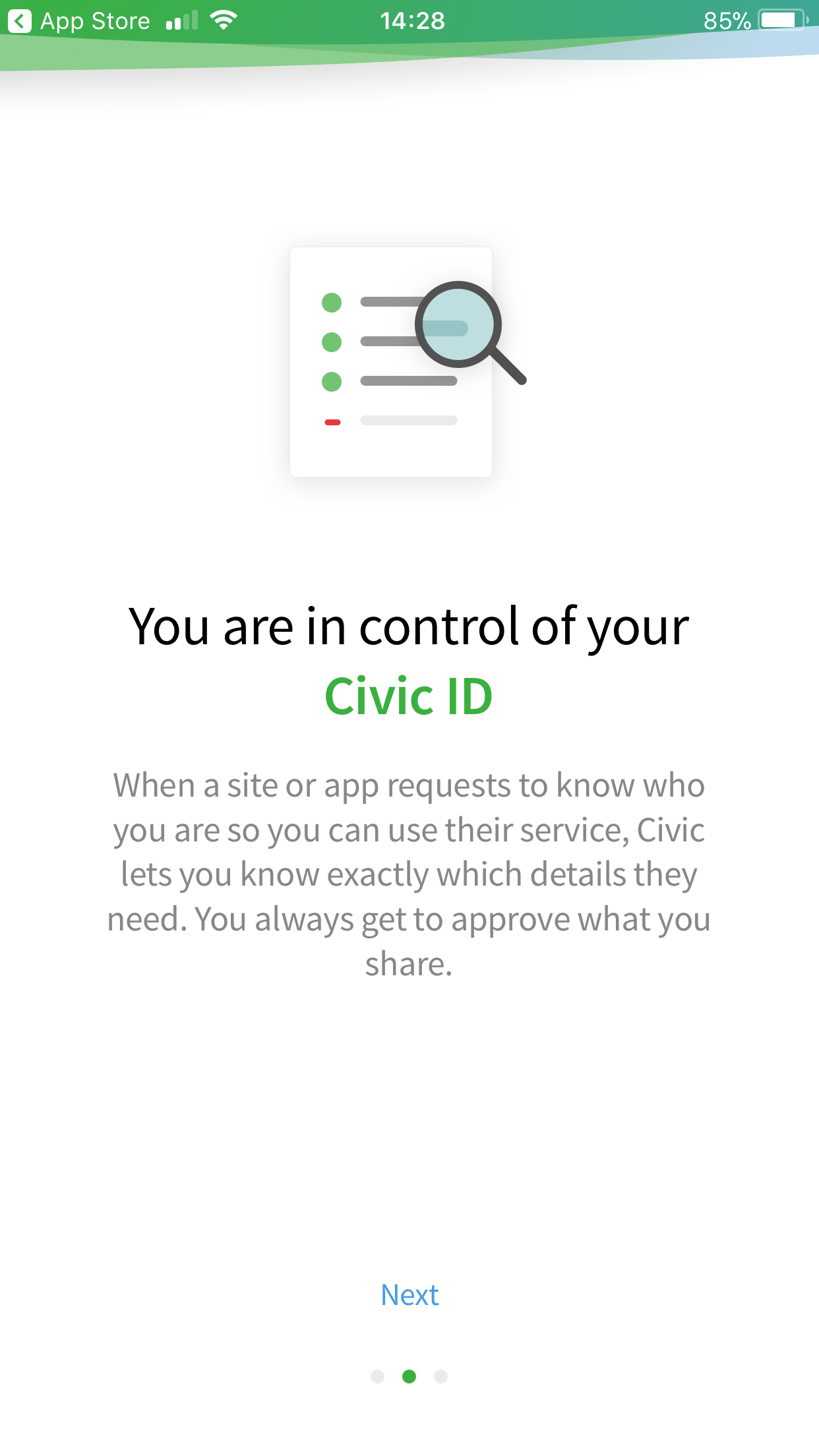 Civic App Intro Screen 2