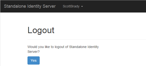 Identity Server Logout Confirmation