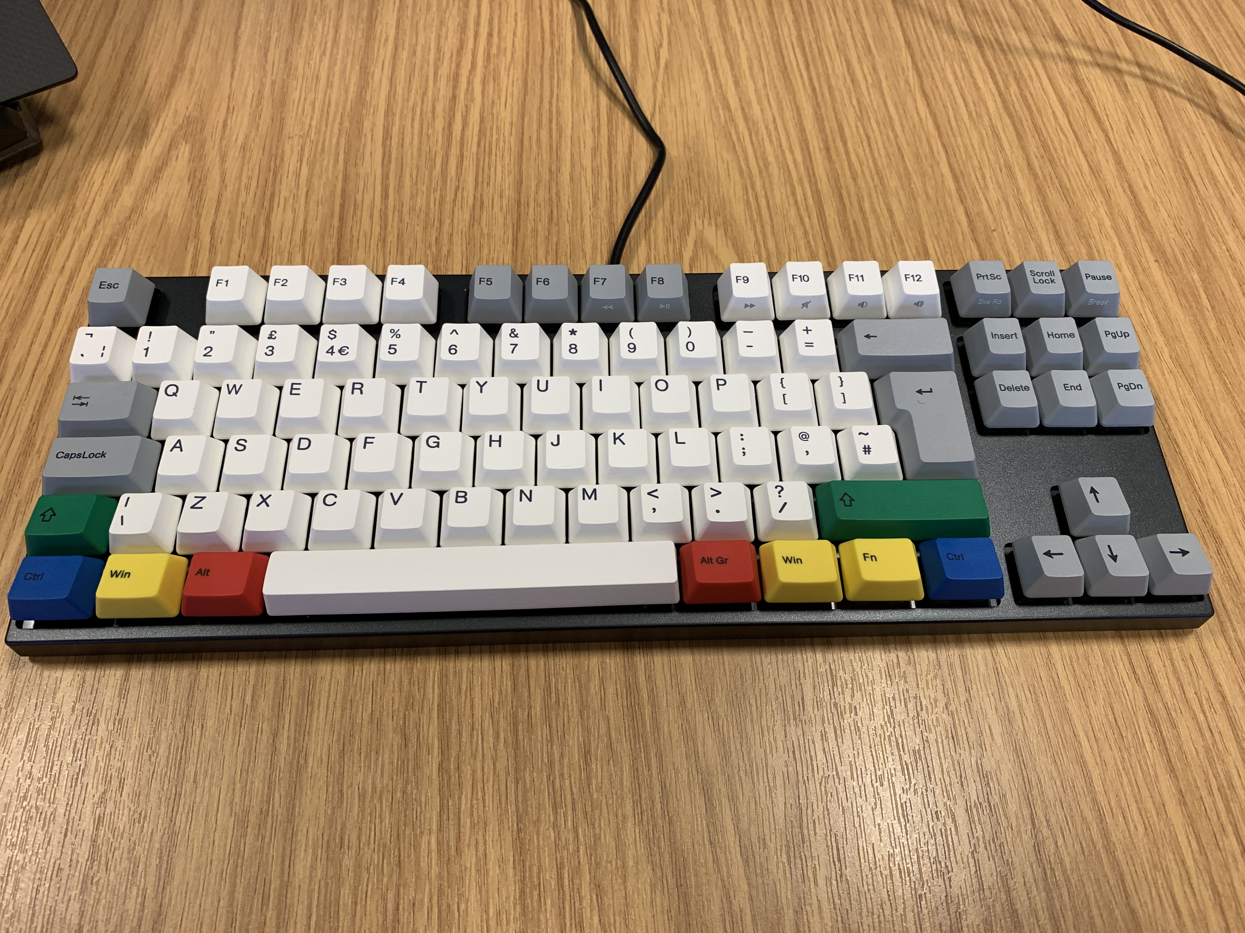 A Varmillo Keyboard with Cherry MX Clears