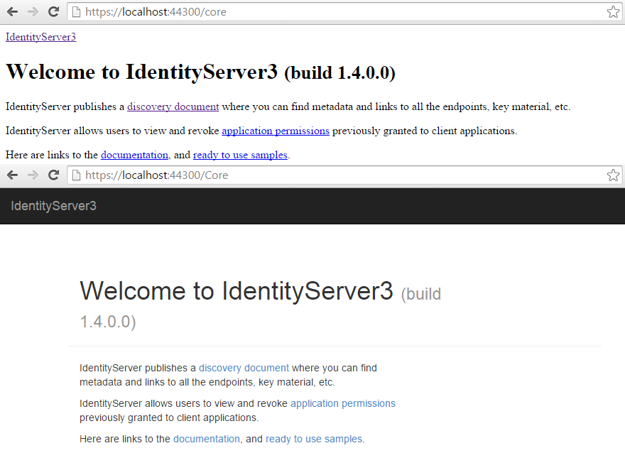 IdentityServer RAMMFAR Comparison