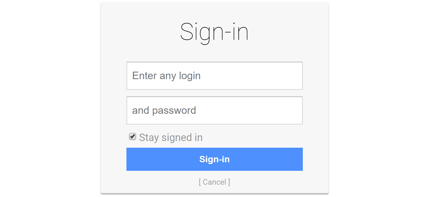 oidc-provider Development Login Page